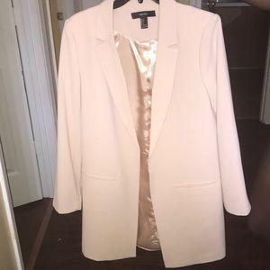 Long blush suit jacket